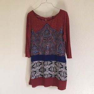 Anthropologie Mixed media tunic